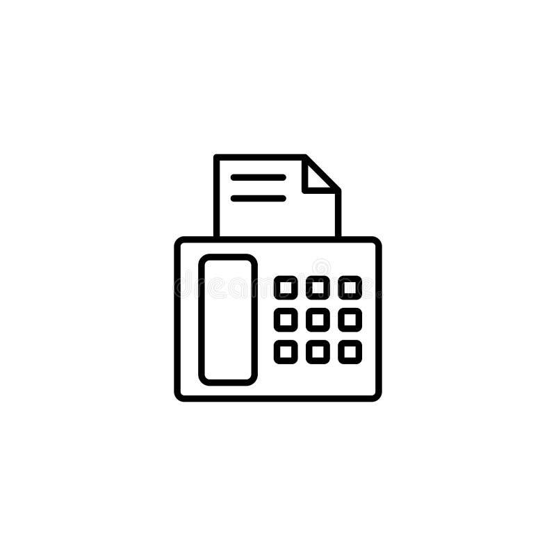 Значок факсимильной машины на белой предпосылке стоковые изображения rf