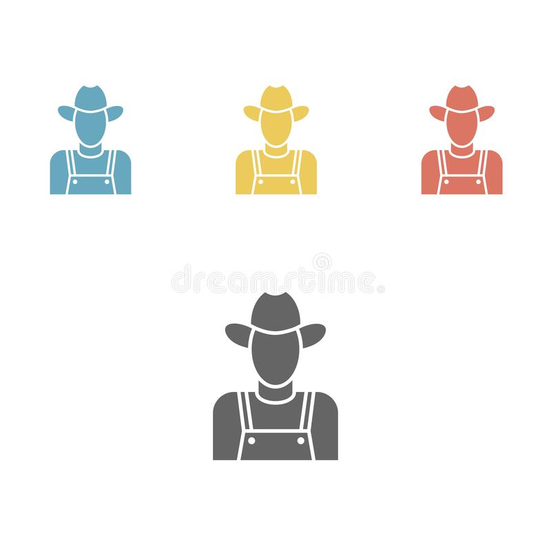Значок фермера бесплатная иллюстрация