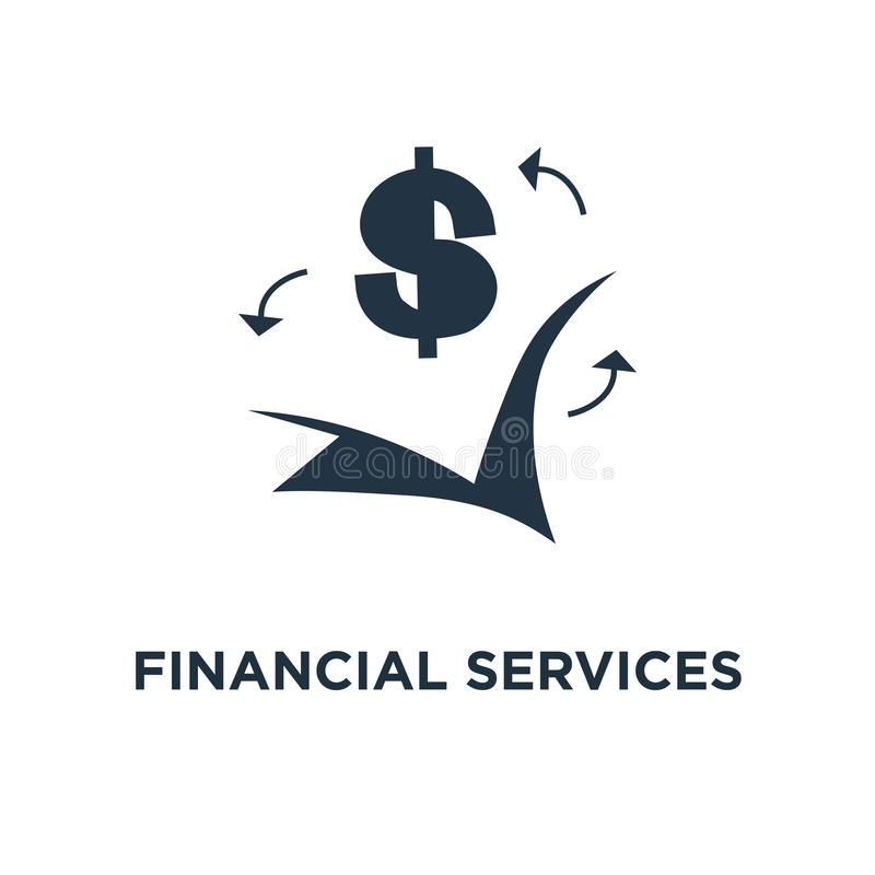 значок финансовых обслуживаний наличных денег дизайн символа концепции назад, возмещение денег, рентабельность инвестиций, сберег бесплатная иллюстрация