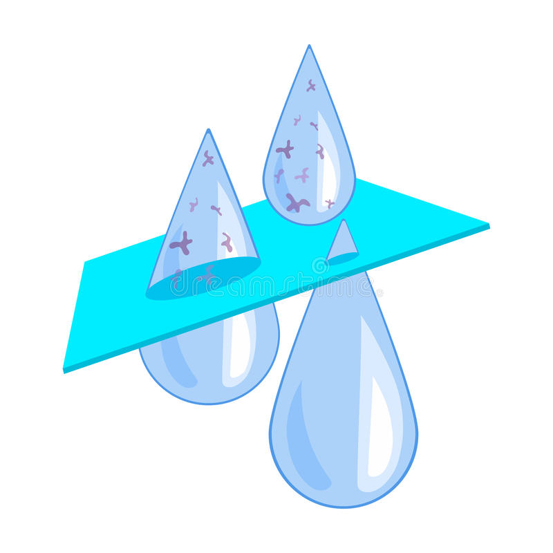 Значок фильтрации воды в стиле шаржа изолированный на белой предпосылке бесплатная иллюстрация