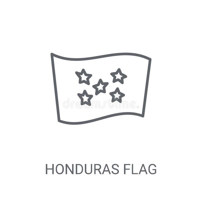 Значок флага Гондураса Ультрамодная концепция логотипа флага Гондураса на белом b бесплатная иллюстрация