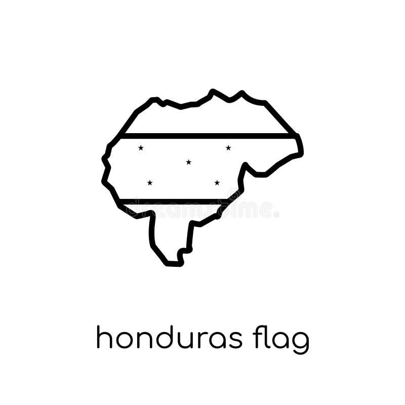 Значок флага Гондураса  иллюстрация вектора