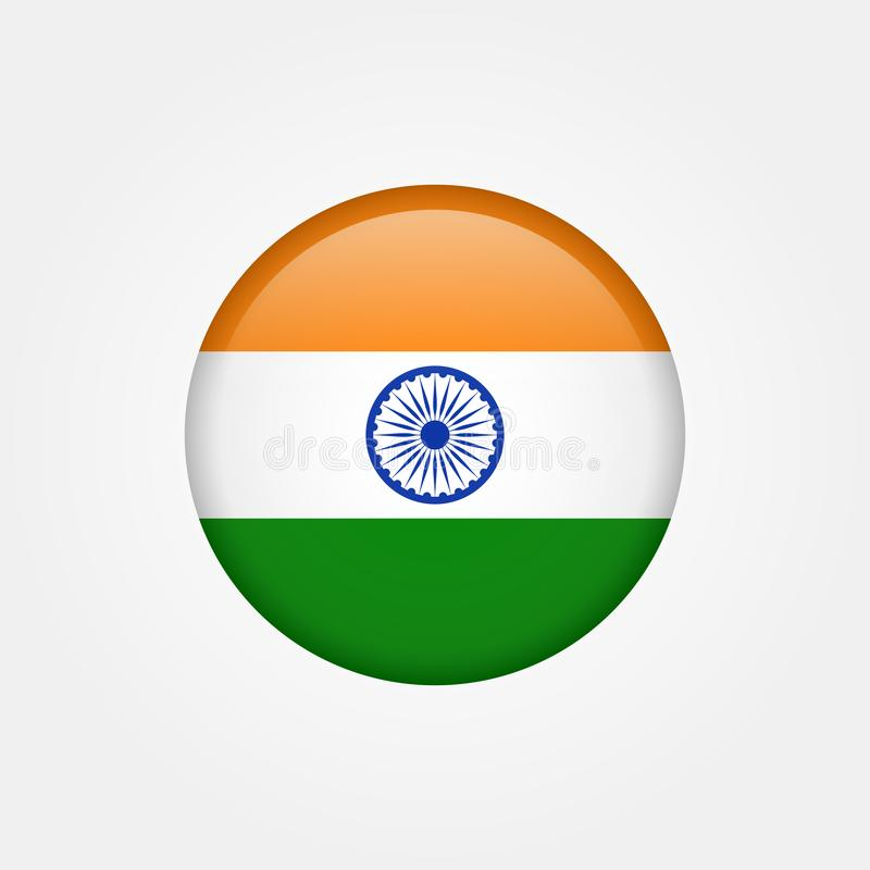Значок 5 флага Индии вектора запаса бесплатная иллюстрация