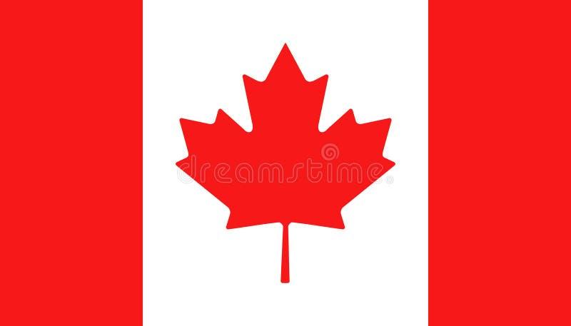 Значок флага Канады в плоском стиле Канадская национальная иллюстрация вектора знака Политичная концепция дела иллюстрация штока