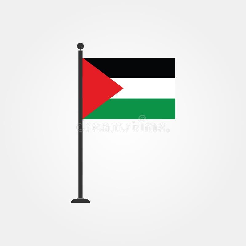 Значок 3 флага Палестины Газа вектора запаса иллюстрация вектора