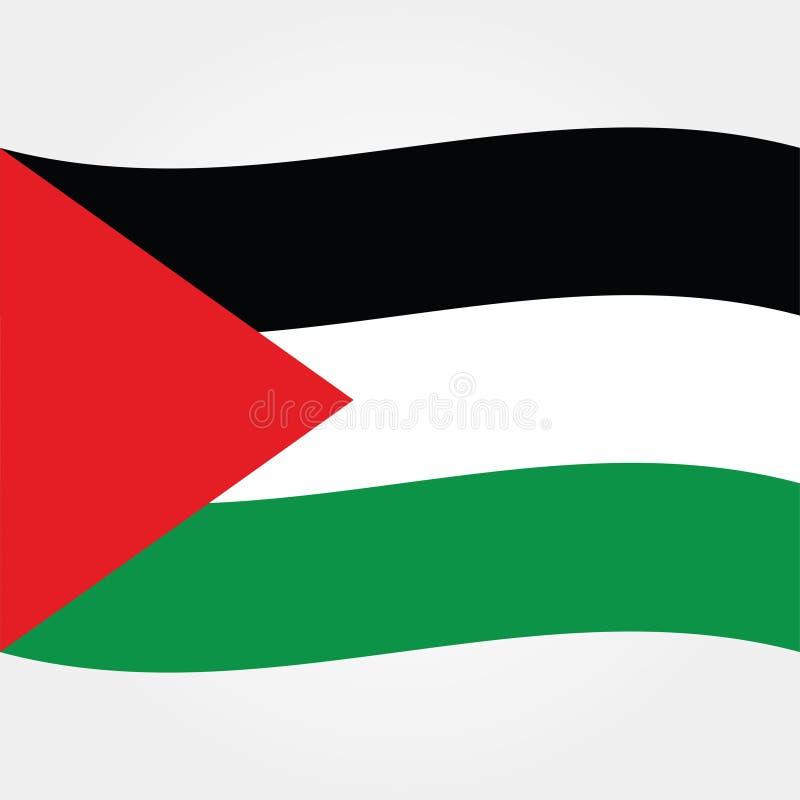 Значок 2 флага Палестины Газа вектора запаса иллюстрация штока