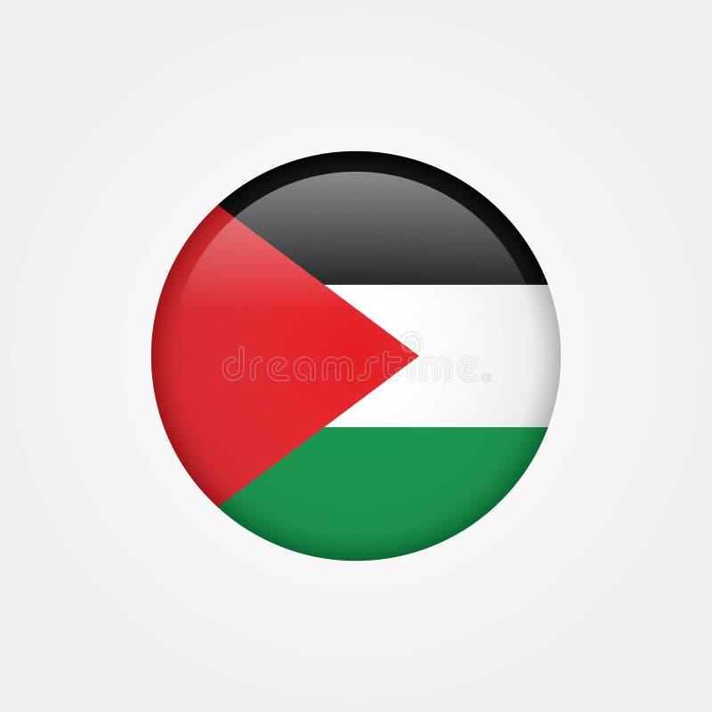 Значок 5 флага Палестины Газа вектора запаса иллюстрация вектора