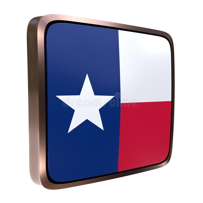 Значок флага Техаса иллюстрация вектора