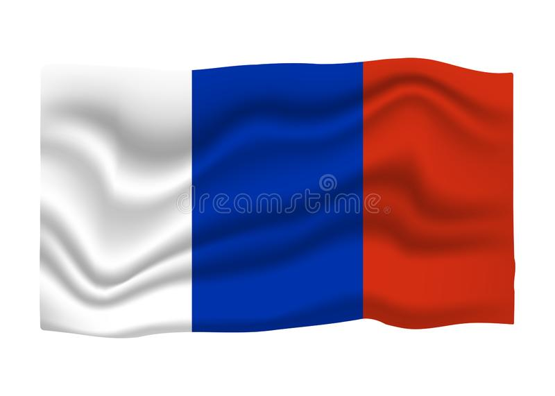 Значок флага Франции Знамя национального флага E иллюстрация штока