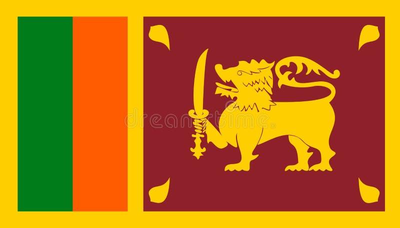 Значок флага Шри-Ланка в плоском стиле Национальная иллюстрация вектора знака Политичная концепция дела бесплатная иллюстрация