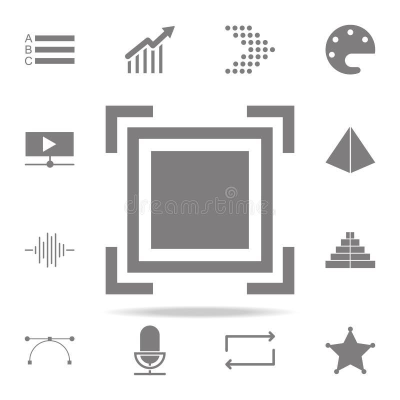 Значок фокуса комплект значков сети всеобщий для сети и черни бесплатная иллюстрация