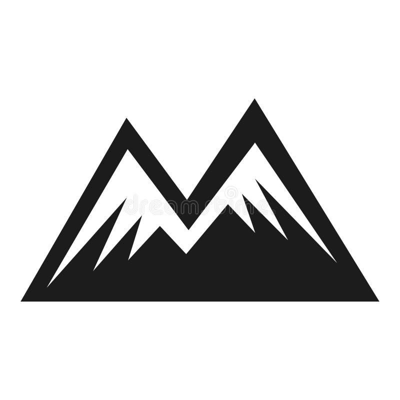 Значок формы горы, пиковый символ приключения 2 иллюстрация вектора