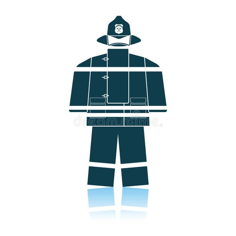Значок формы пожарной службы иллюстрация вектора