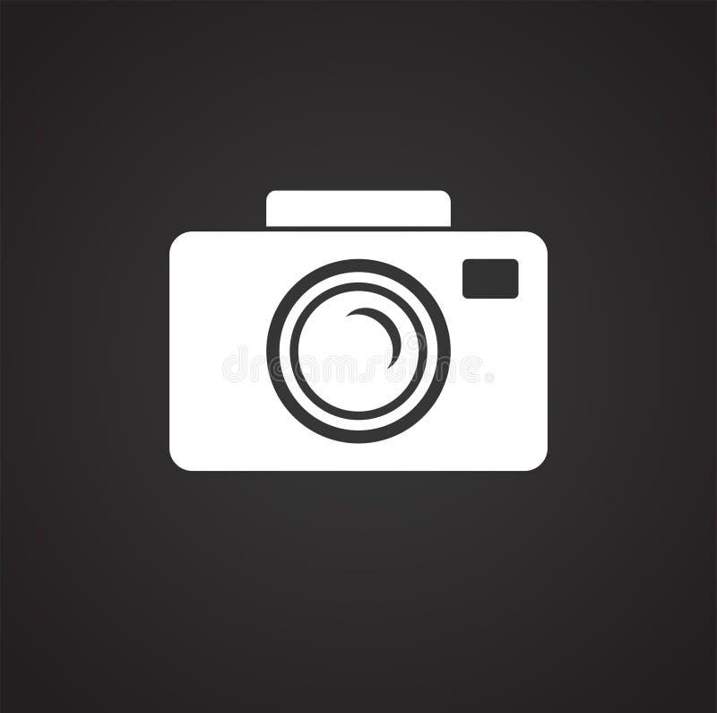 Значок фотографии свадьбы на черной предпосылке для графика и веб-дизайна, современного простого знака вектора интернет принципиа иллюстрация вектора