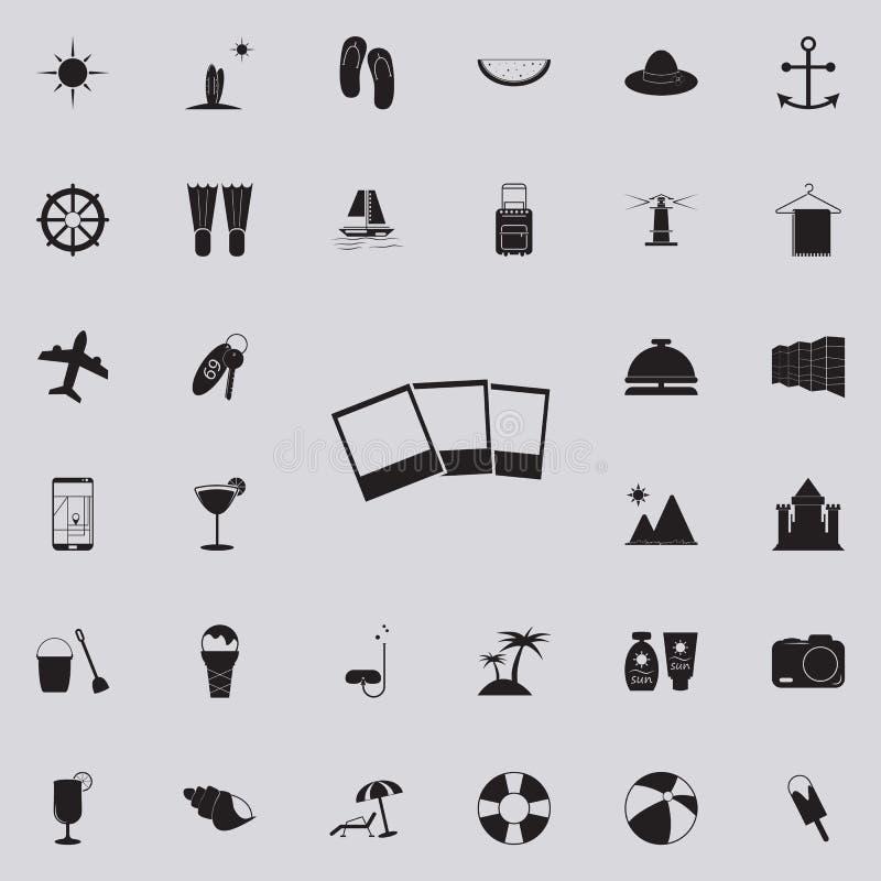 Значок фото Детальный комплект значков удовольствия лета Наградной качественный знак графического дизайна Один из значков собрани иллюстрация вектора
