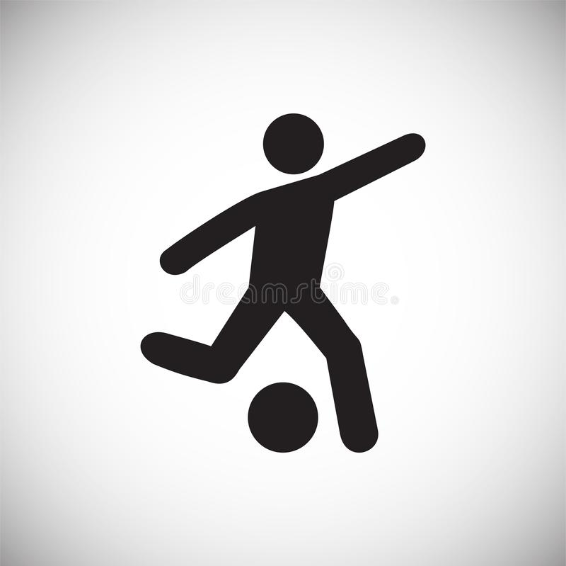 Значок футболиста на белой предпосылке для графика и веб-дизайна, современного простого знака вектора интернет принципиальной схе бесплатная иллюстрация