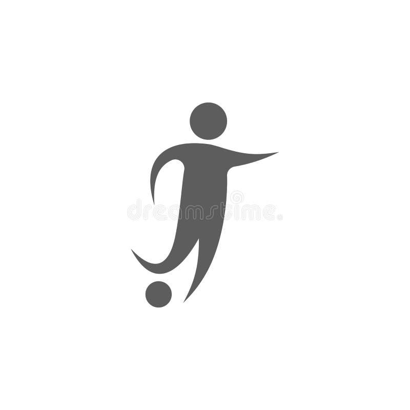 значок футболиста Элемент спорта для передвижных apps концепции и сети Значок для дизайна вебсайта и развития, развития app иллюстрация штока