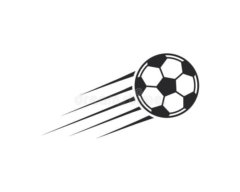 Значок футбольного мяча Иллюстрация вектора логотипа иллюстрация штока