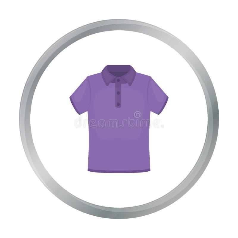 Значок футболки иллюстрации вектора для сети и черни иллюстрация штока