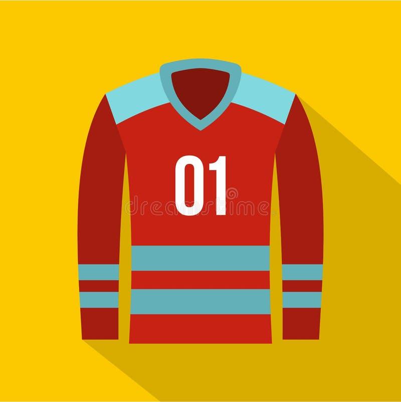Значок футболки хоккея, плоский стиль бесплатная иллюстрация