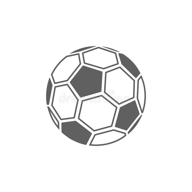 Значок футбольного мяча иллюстрация вектора