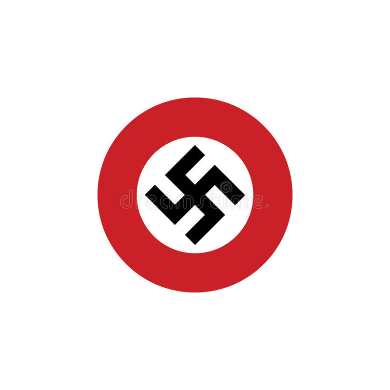 Значок флага свастики стоковые изображения rf