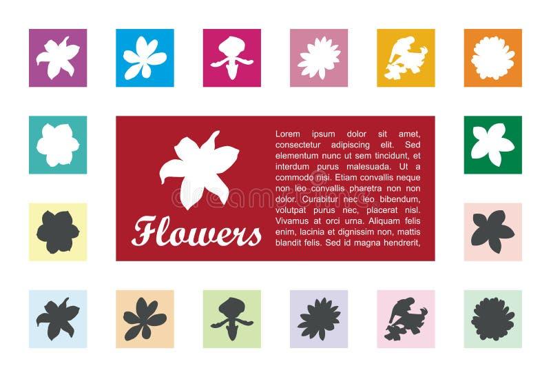 Значок флоры в векторе квадратной коробки бесплатная иллюстрация