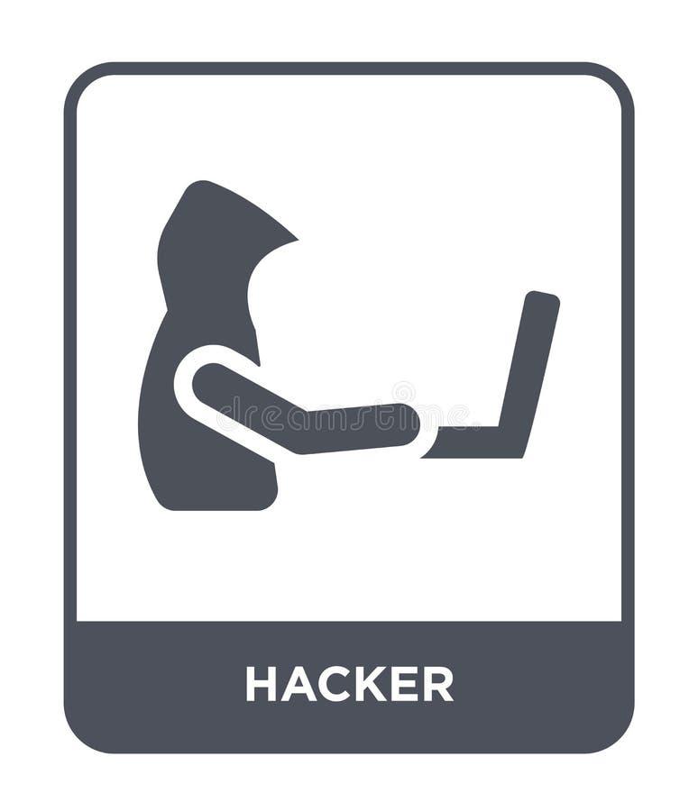 значок хакера в ультрамодном стиле дизайна значок хакера изолированный на белой предпосылке символ значка вектора хакера простой  бесплатная иллюстрация