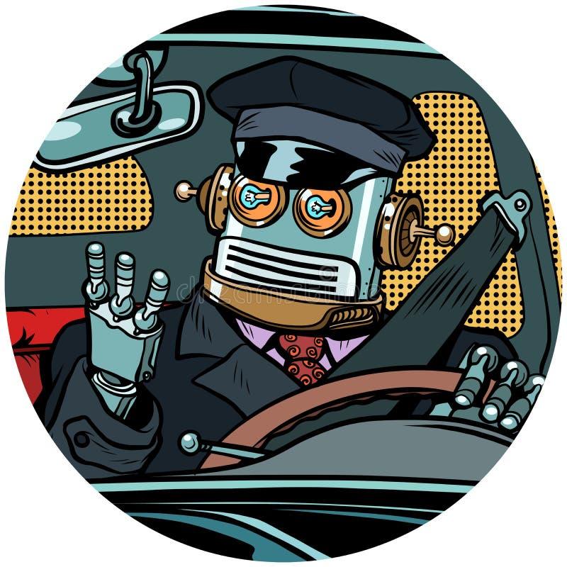 Значок характера воплощения искусства шипучки трутня робота водителя иллюстрация вектора