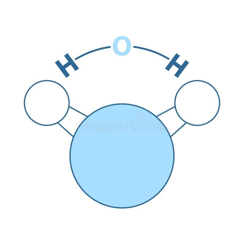 Значок химической воды молекулы иллюстрация штока