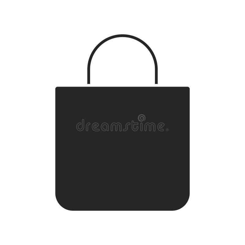 Значок хозяйственной сумки на белой предпосылке, для любого случая бесплатная иллюстрация