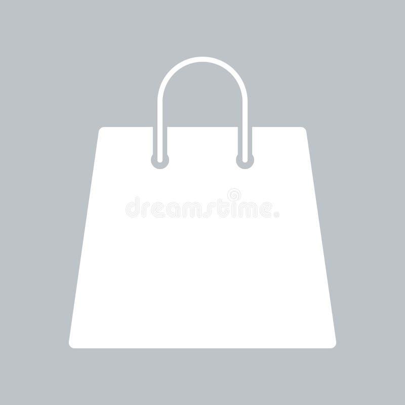 Значок хозяйственной сумки на серой предпосылке, для любого случая иллюстрация штока