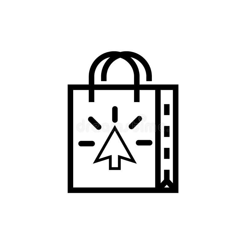 Значок хозяйственной сумки черно-белый бесплатная иллюстрация