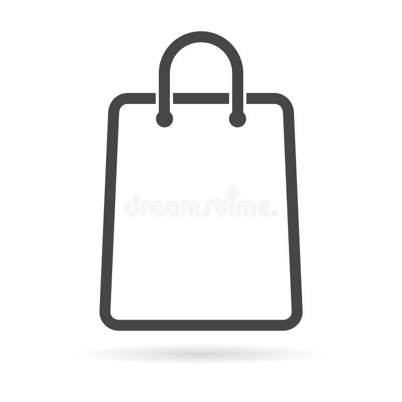 Значок хозяйственной сумки бесплатная иллюстрация