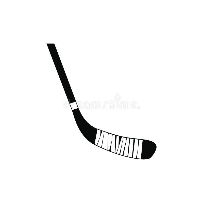 Значок хоккейной клюшки черный простой бесплатная иллюстрация