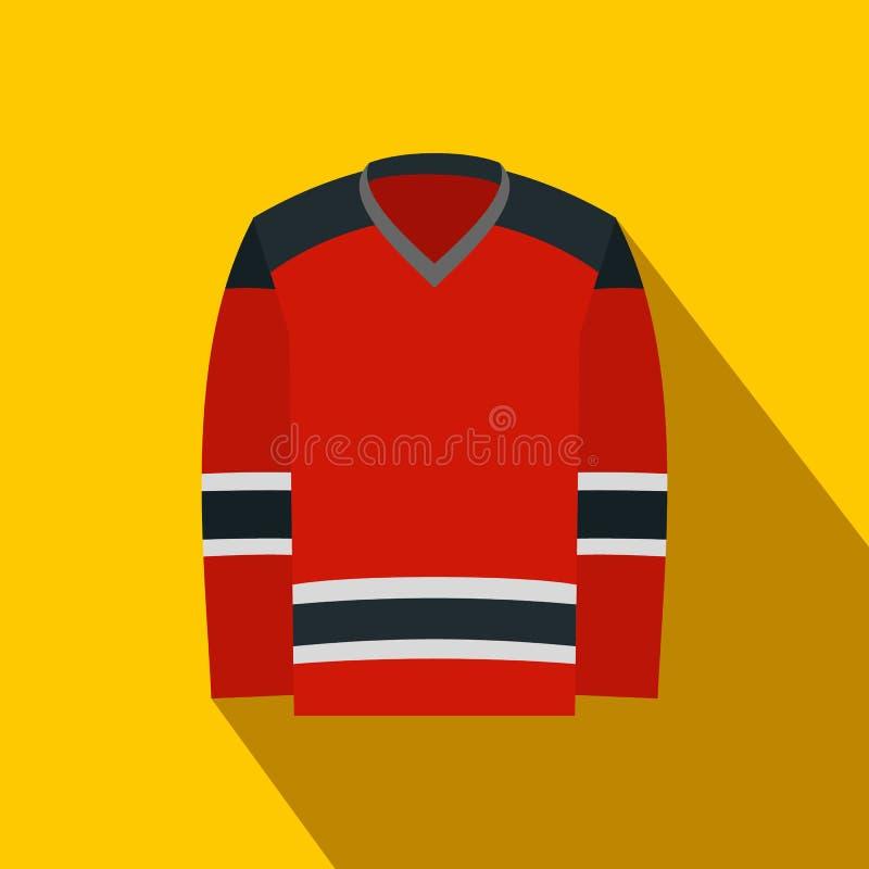 Значок хоккея равномерный плоский иллюстрация штока