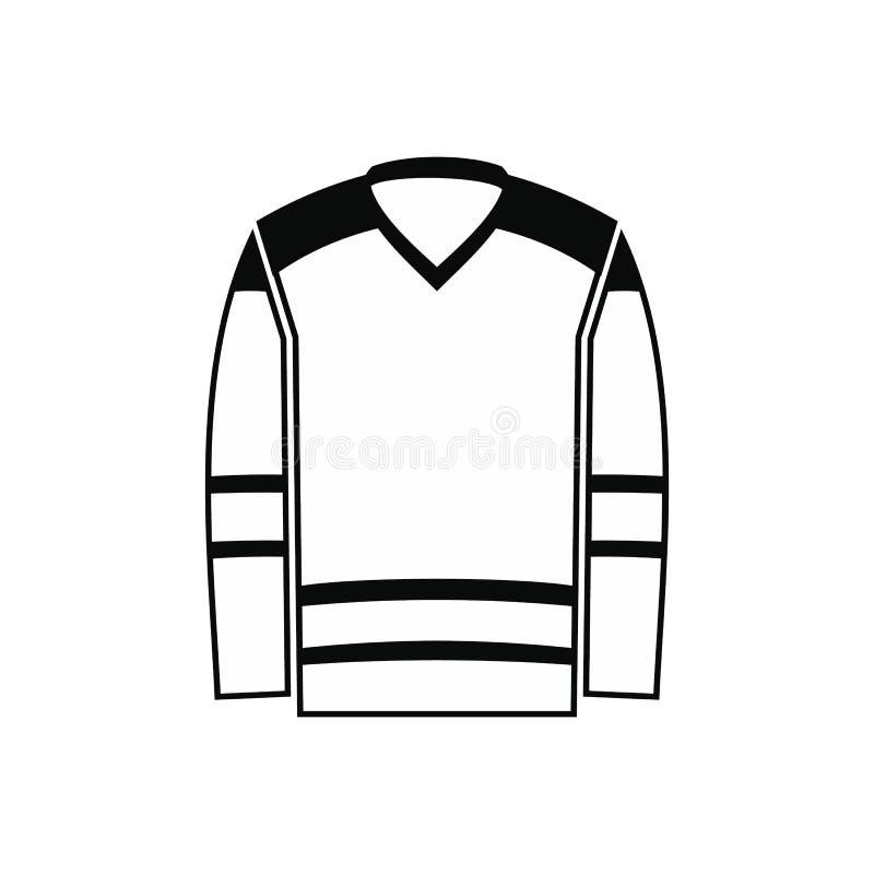 Значок хоккея равномерный черный простой иллюстрация штока