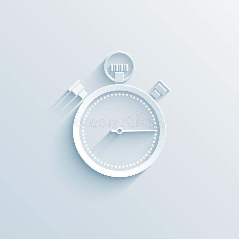 Значок хронометра бумажный иллюстрация штока