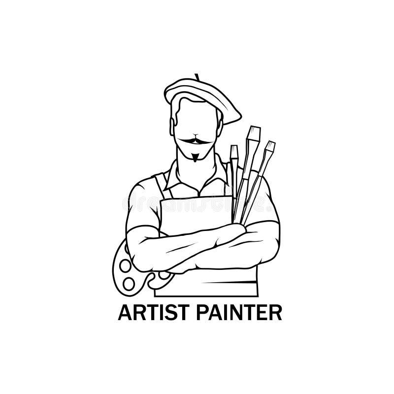 Значок художника иллюстрации вектора Арройо иллюстрация штока