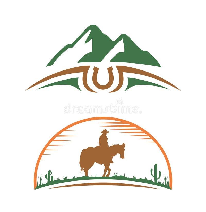 Значок цвета Всадник на horseback иллюстрация вектора