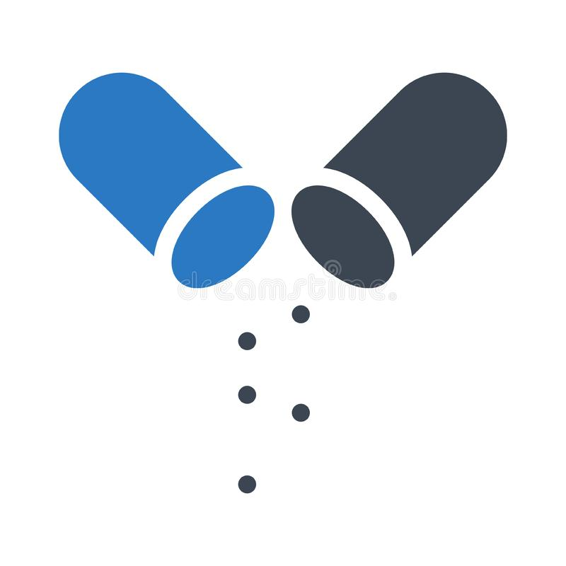 Значок цвета глифа лекарств иллюстрация штока
