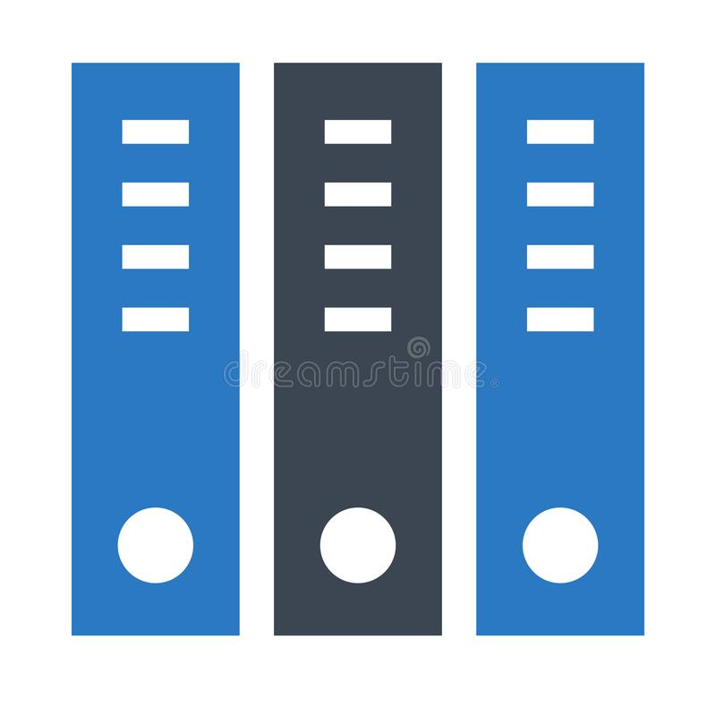 Значок цвета глифов архива двойной бесплатная иллюстрация