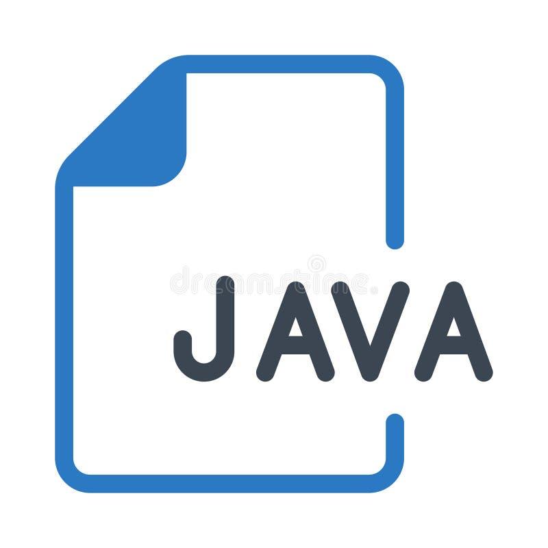 Значок цвета глифов файла Ява двойной иллюстрация штока