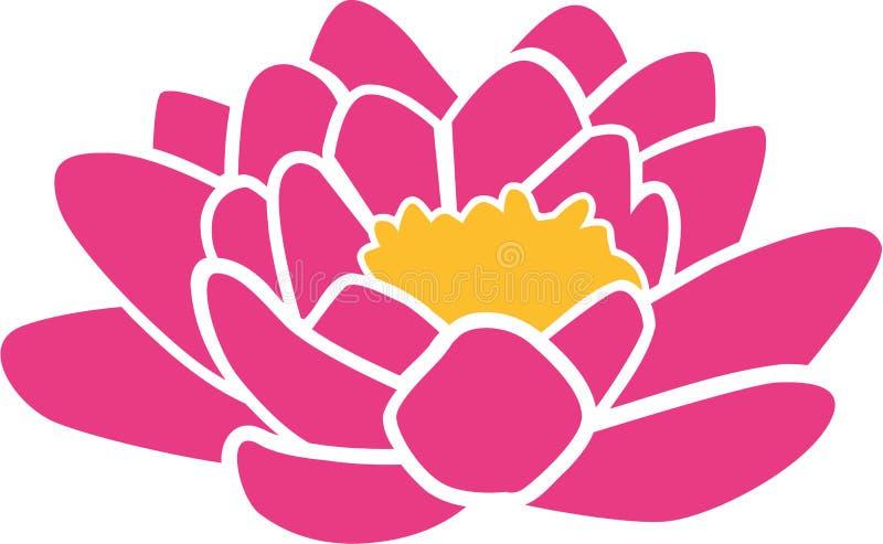 Значок цветка лотоса бесплатная иллюстрация