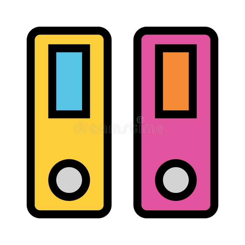 Значок цветного барьера архива бесплатная иллюстрация