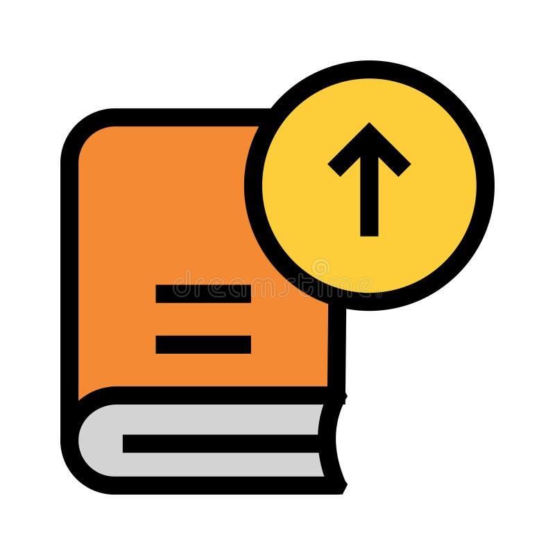Значок цветного барьера загрузки книги иллюстрация вектора