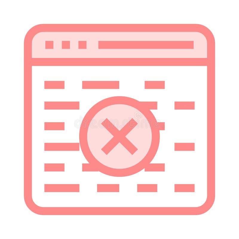 Значок цветного барьера удаления интернет-страницы бесплатная иллюстрация