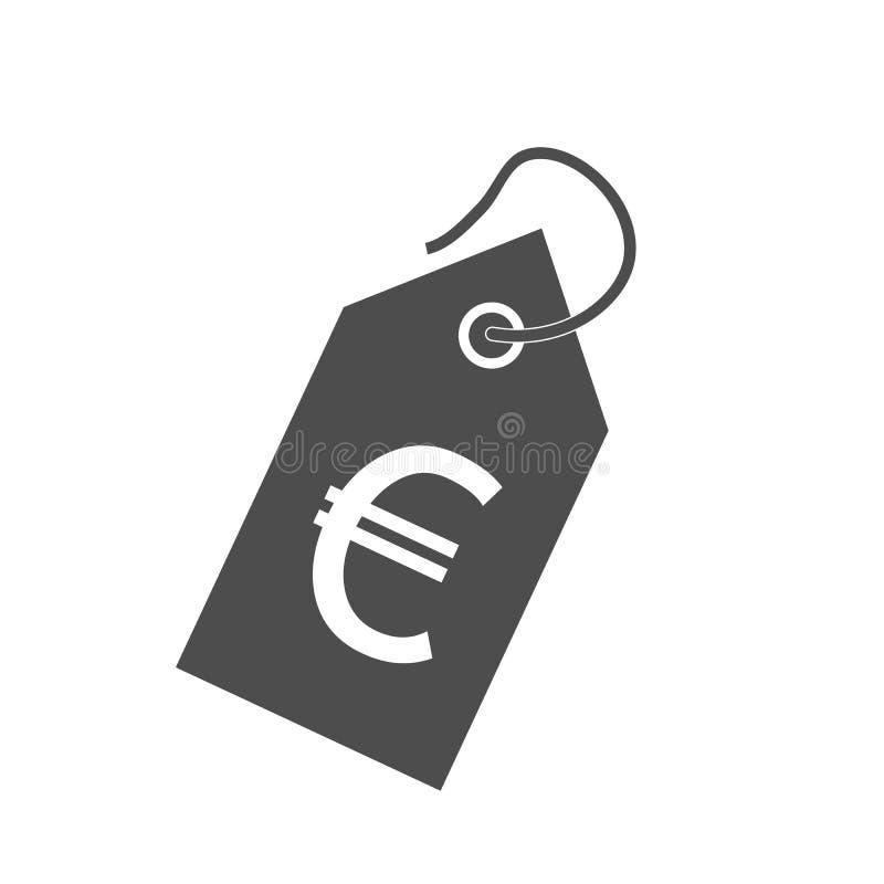 Значок ценника Иллюстрация вектора, плоский дизайн бесплатная иллюстрация