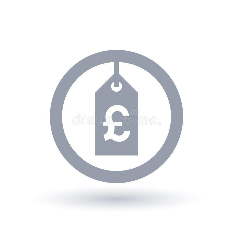 Значок ценника фунта - великобританский знак ярлыка продажи бесплатная иллюстрация