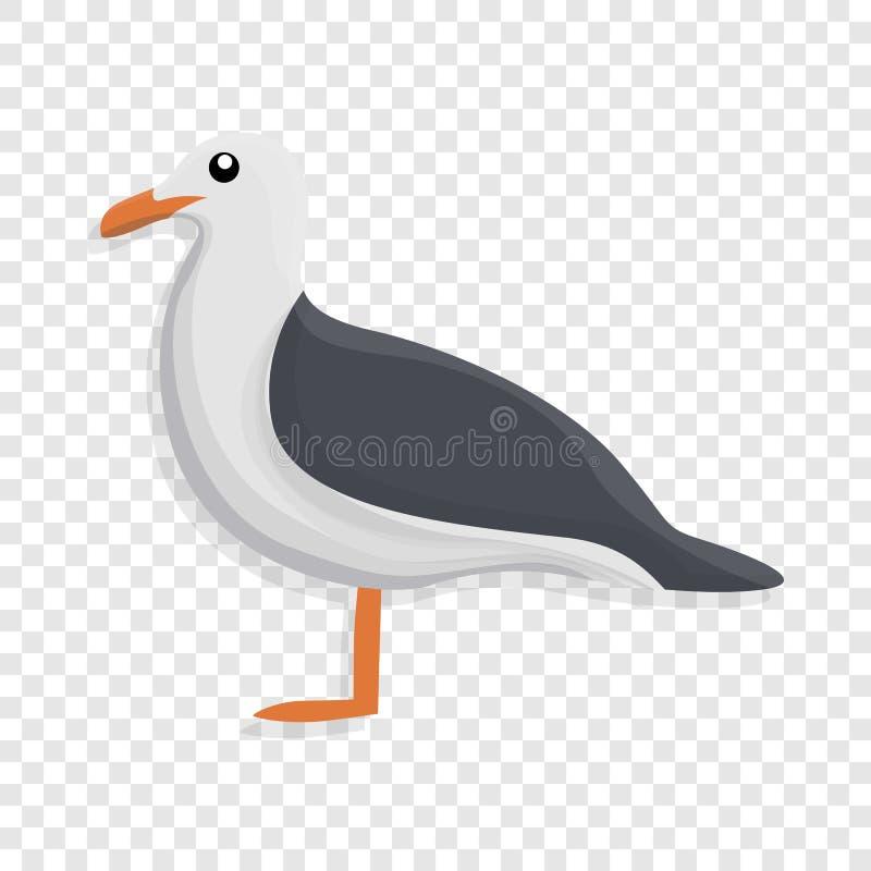 Значок чайки, стиль шаржа бесплатная иллюстрация